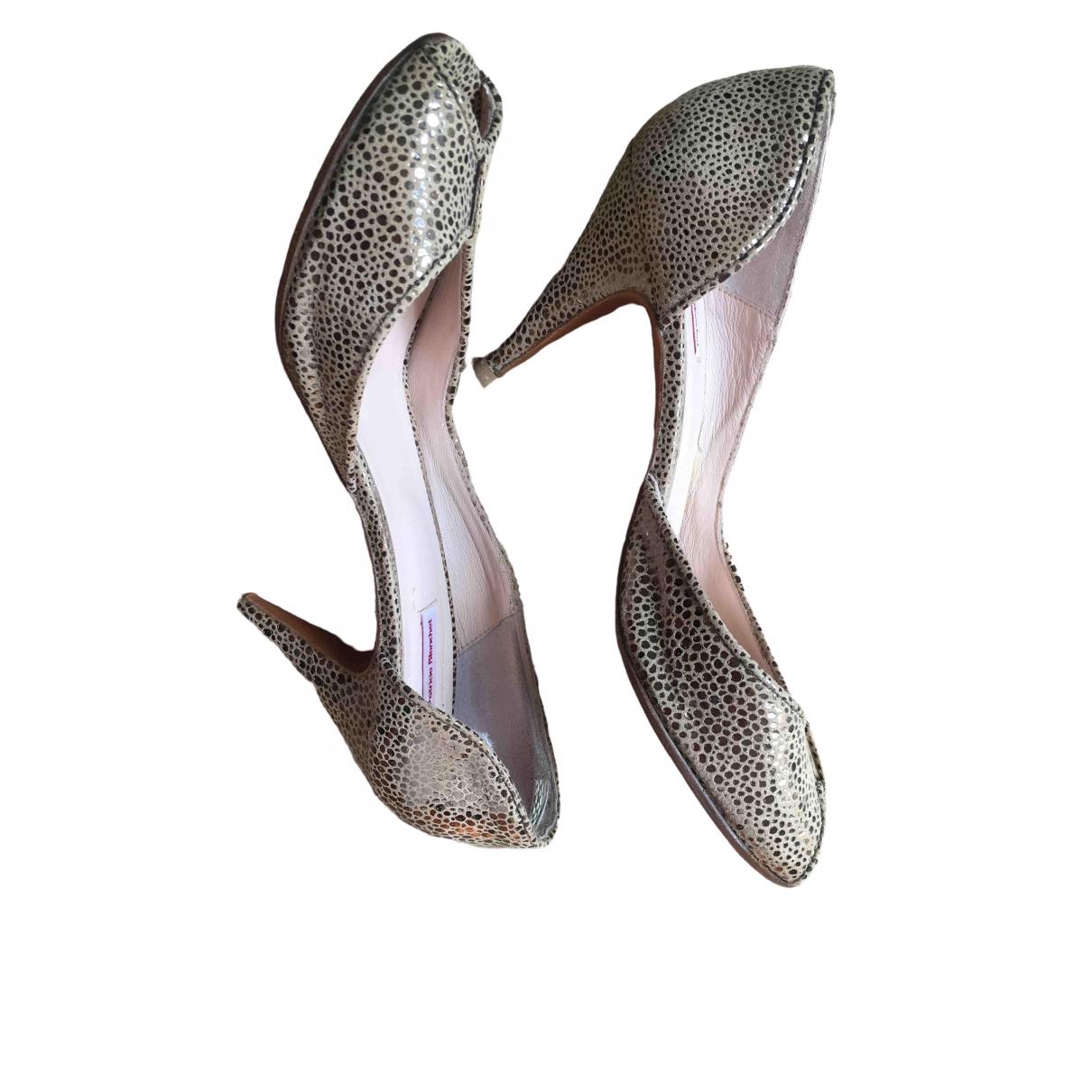 Patricia Blanchet \N Ecru Leather Heels for Women 40 EU