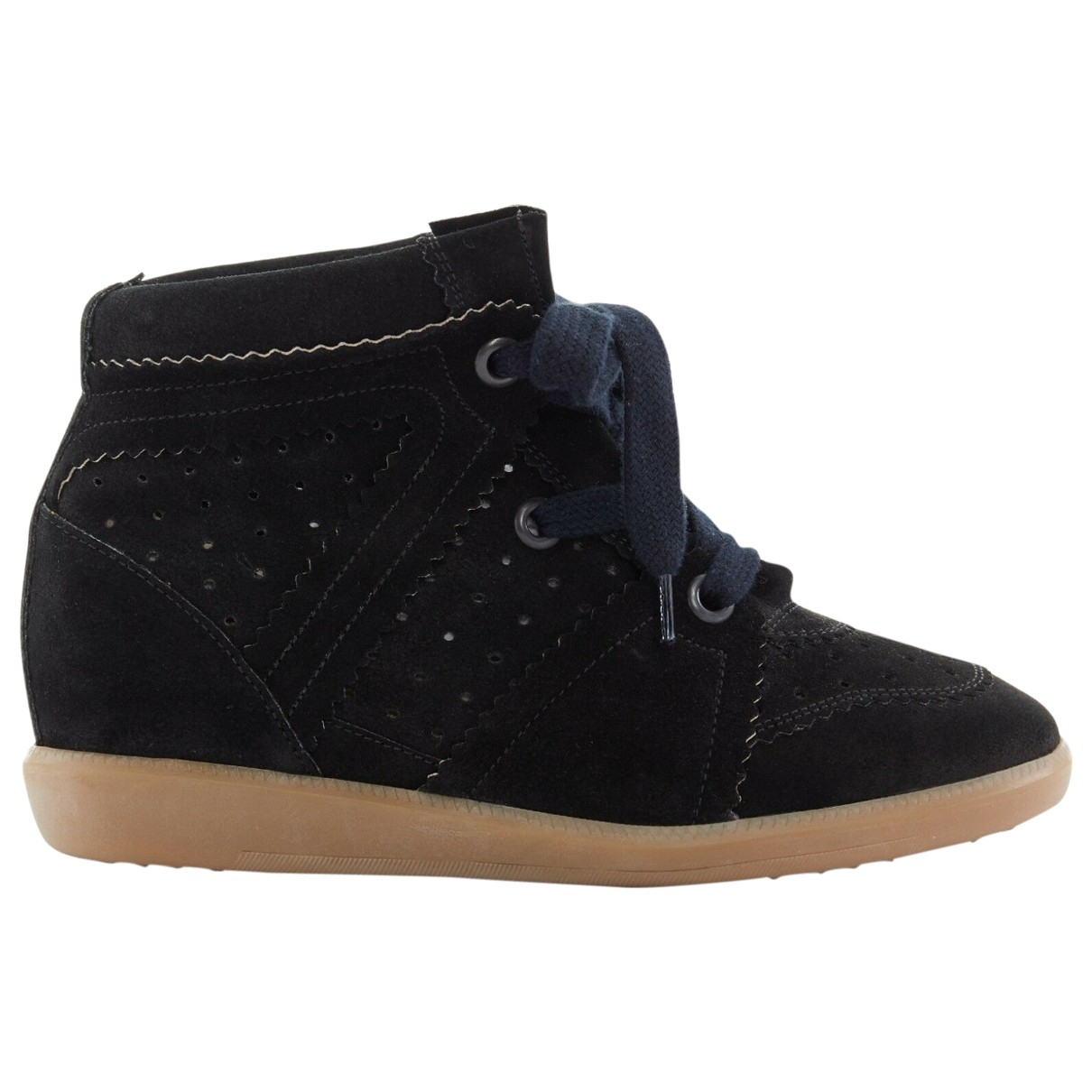 Isabel Marant Betty Black Suede Trainers for Women 38 EU