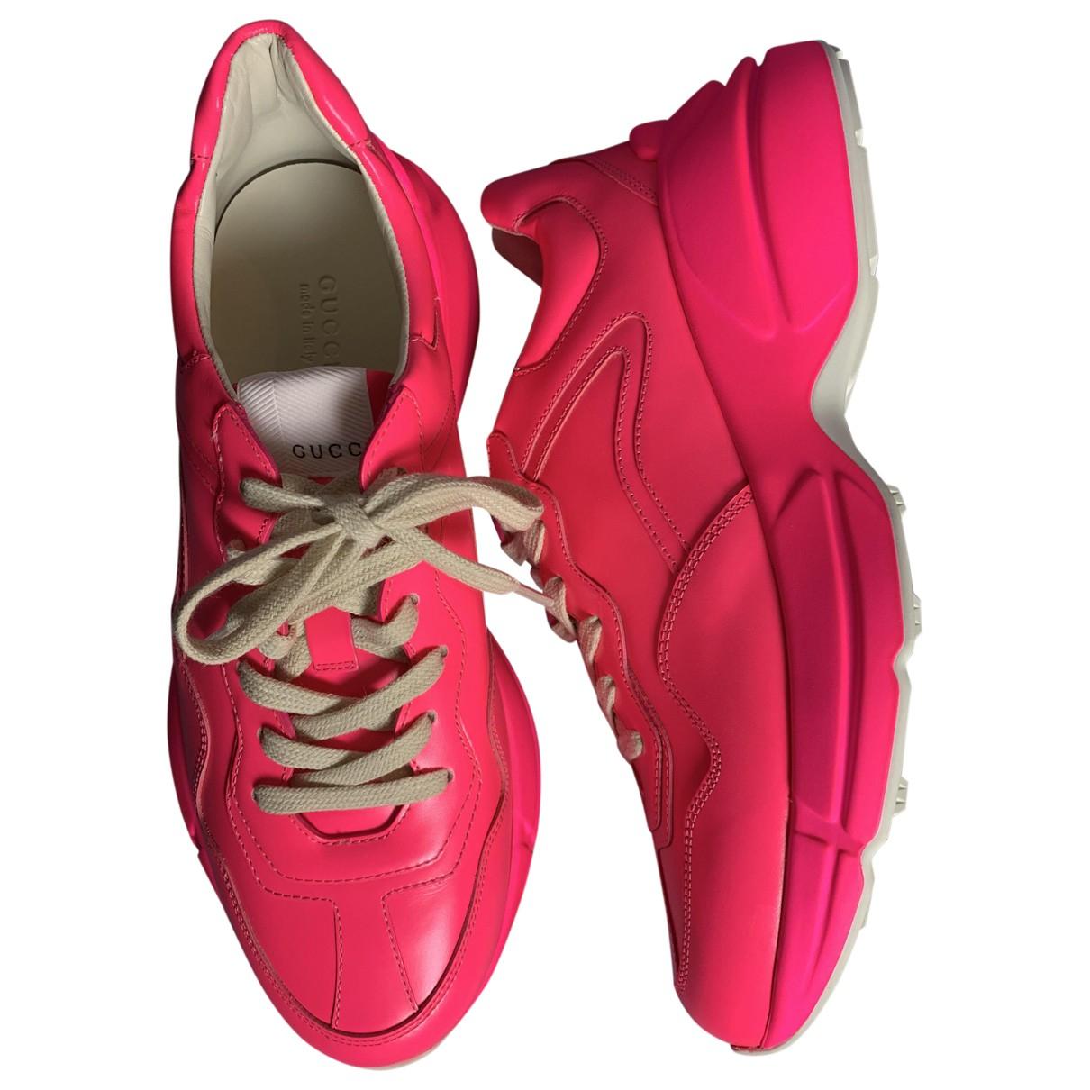 Gucci - Baskets Rhyton pour femme en cuir - rose