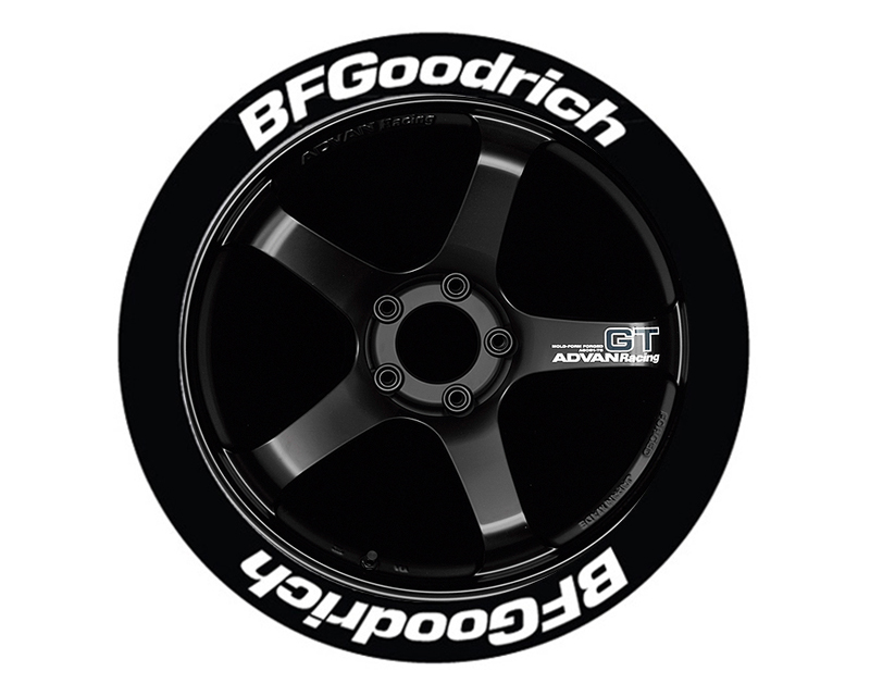 Tire Stickers BFG-1416-15-4-G Permanent Raised Rubber Lettering 'Bf Goodrich' - 4 Of Each - 14