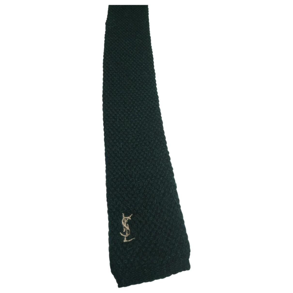 Yves Saint Laurent \N Green Wool Ties for Men \N