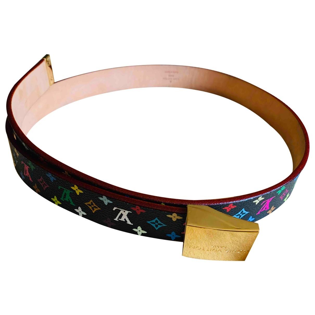 Louis Vuitton \N Black Cloth belt for Women 90 cm