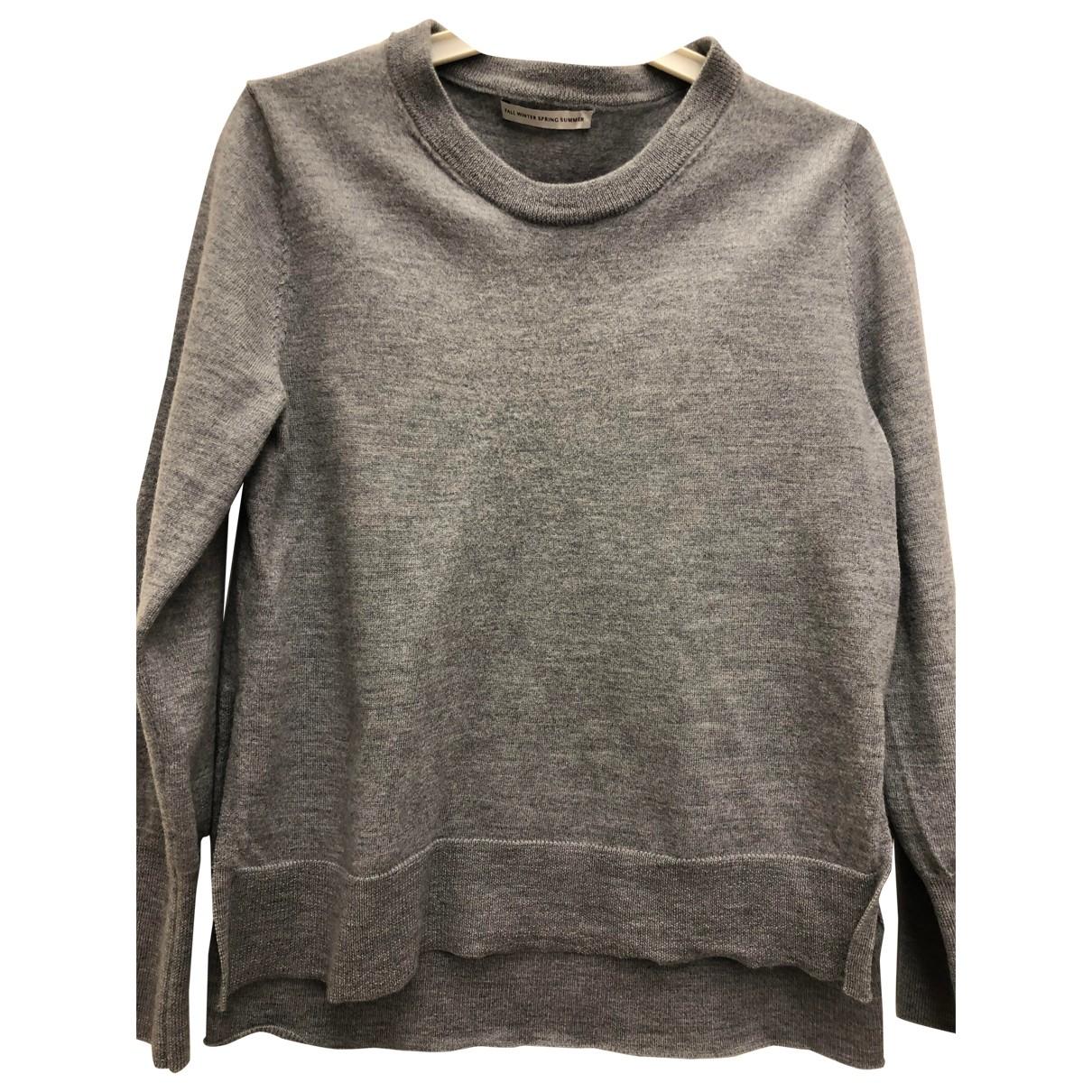 Fallwinterspringsummer \N Pullover in  Grau Wolle