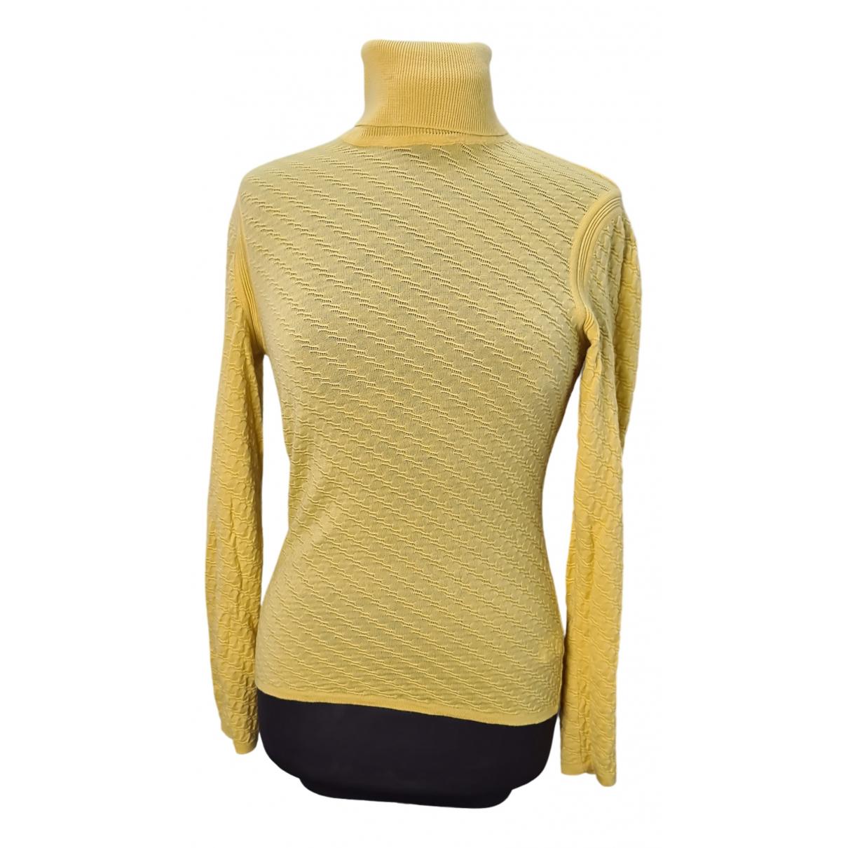 Missoni - Pull   pour femme en laine - jaune