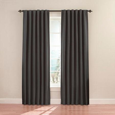 Eclipse Fresno Rod-Pocket/Back-Tab Blackout Curtain Panel, One Size , Gray