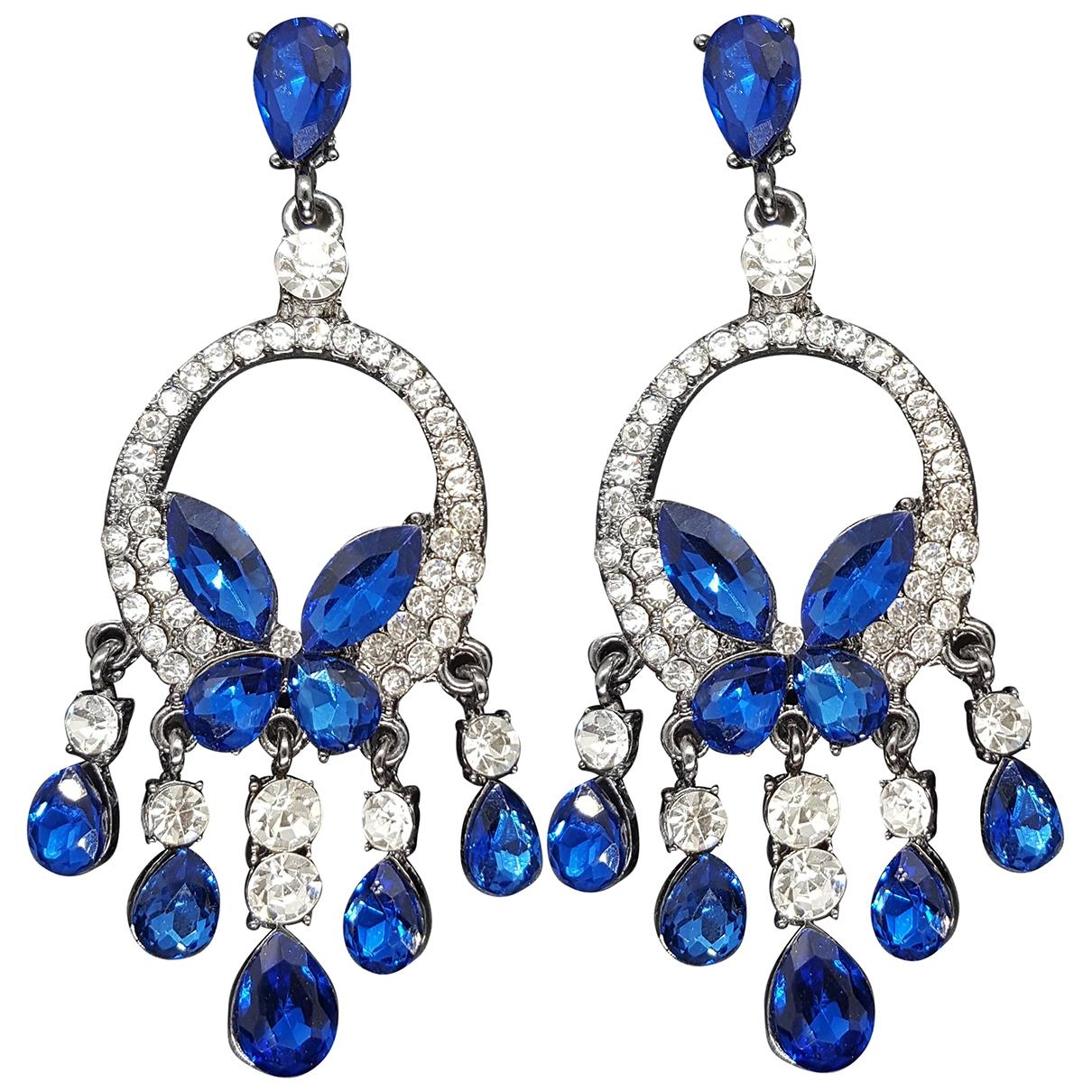 - Boucles doreilles Motifs Animaliers pour femme en metal - bleu