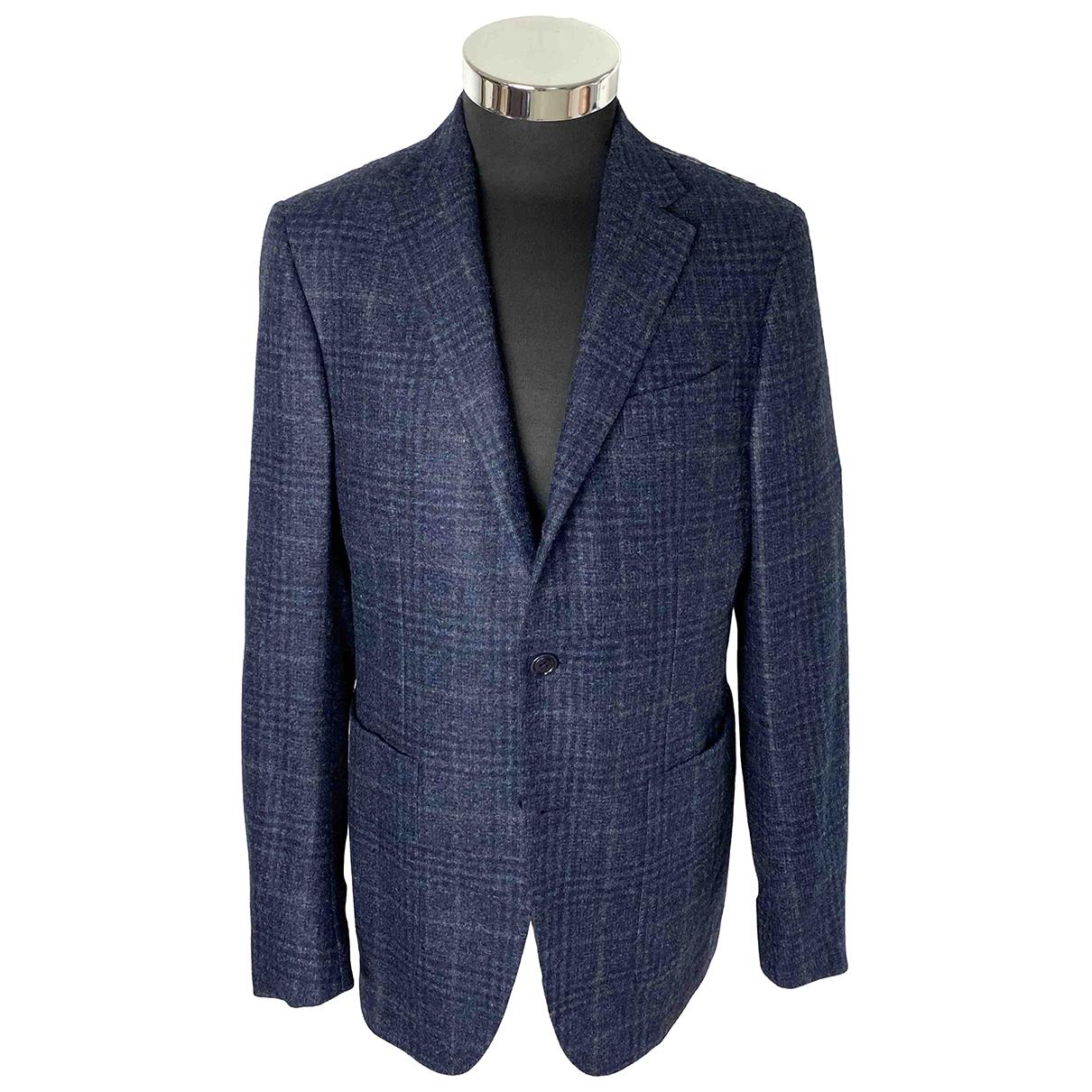 Ermenegildo Zegna - Vestes.Blousons   pour homme en tweed - bleu