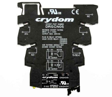 Sensata / Crydom 3.5 A Solid State Relay, Zero Cross, DIN Rail, 24 V dc Maximum Load
