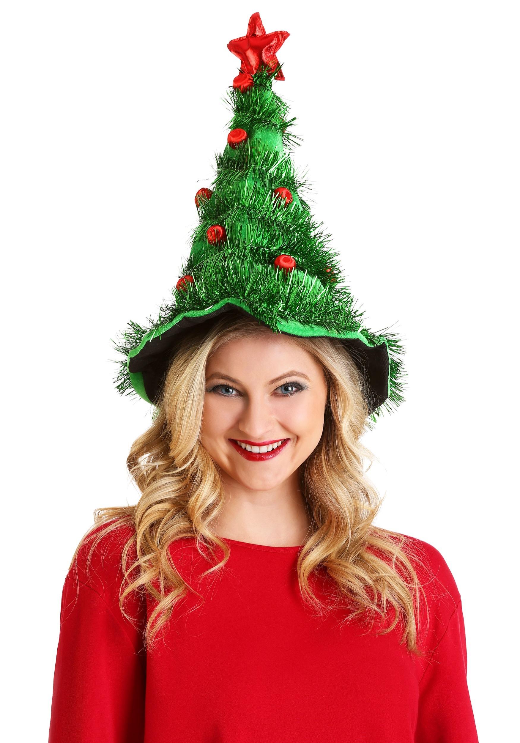 Christmas Tree Light-Up Hat