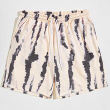 Men Tie Dye Drawstring Shorts