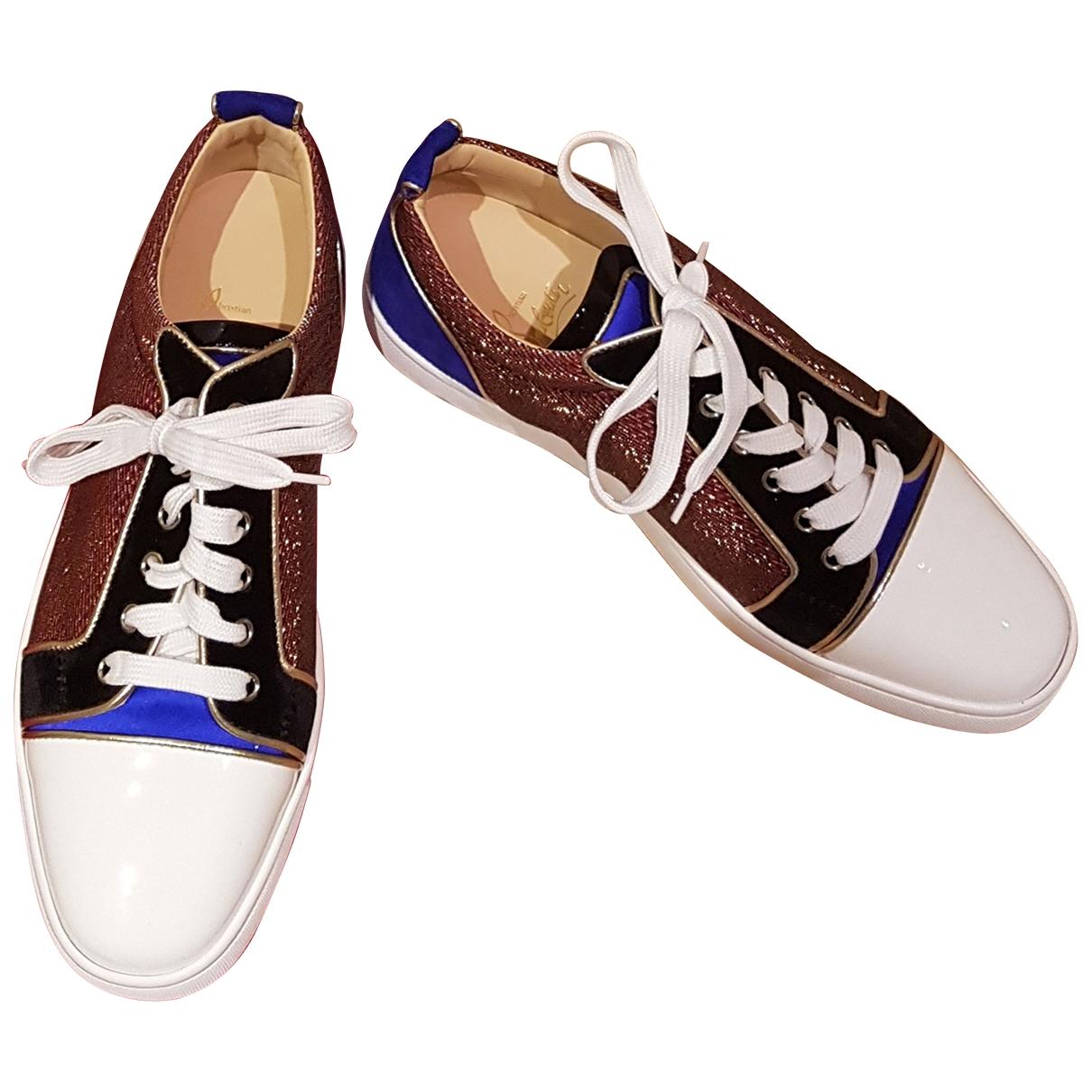 Christian Louboutin Louis Sneakers in  Blau Leinen