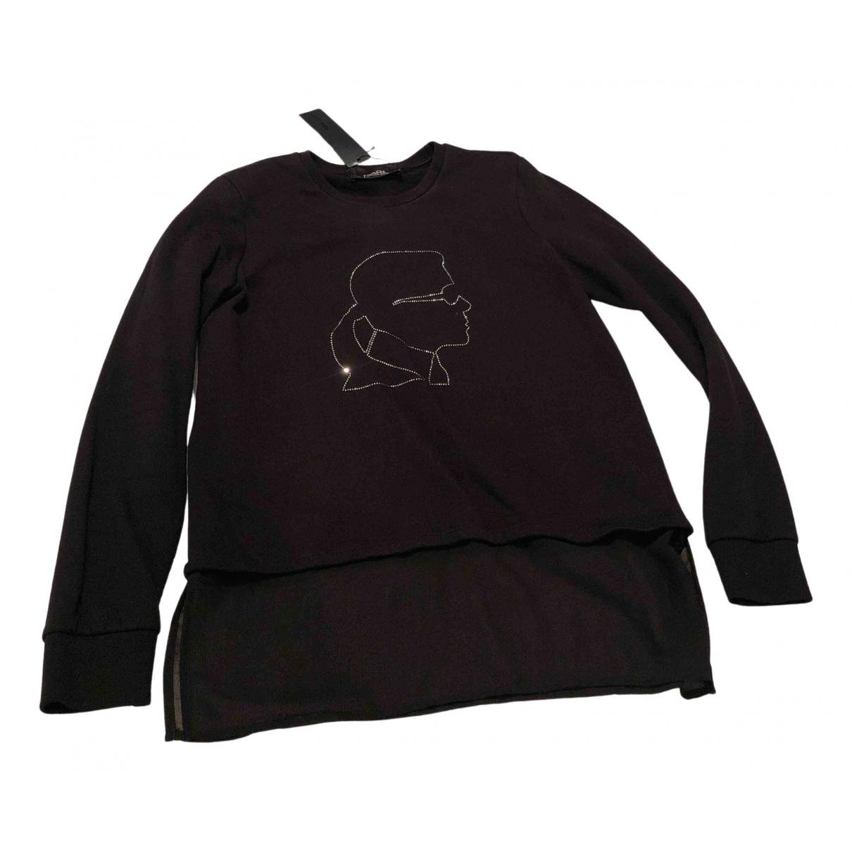 Karl Lagerfeld \N Black Cotton Knitwear for Women M International