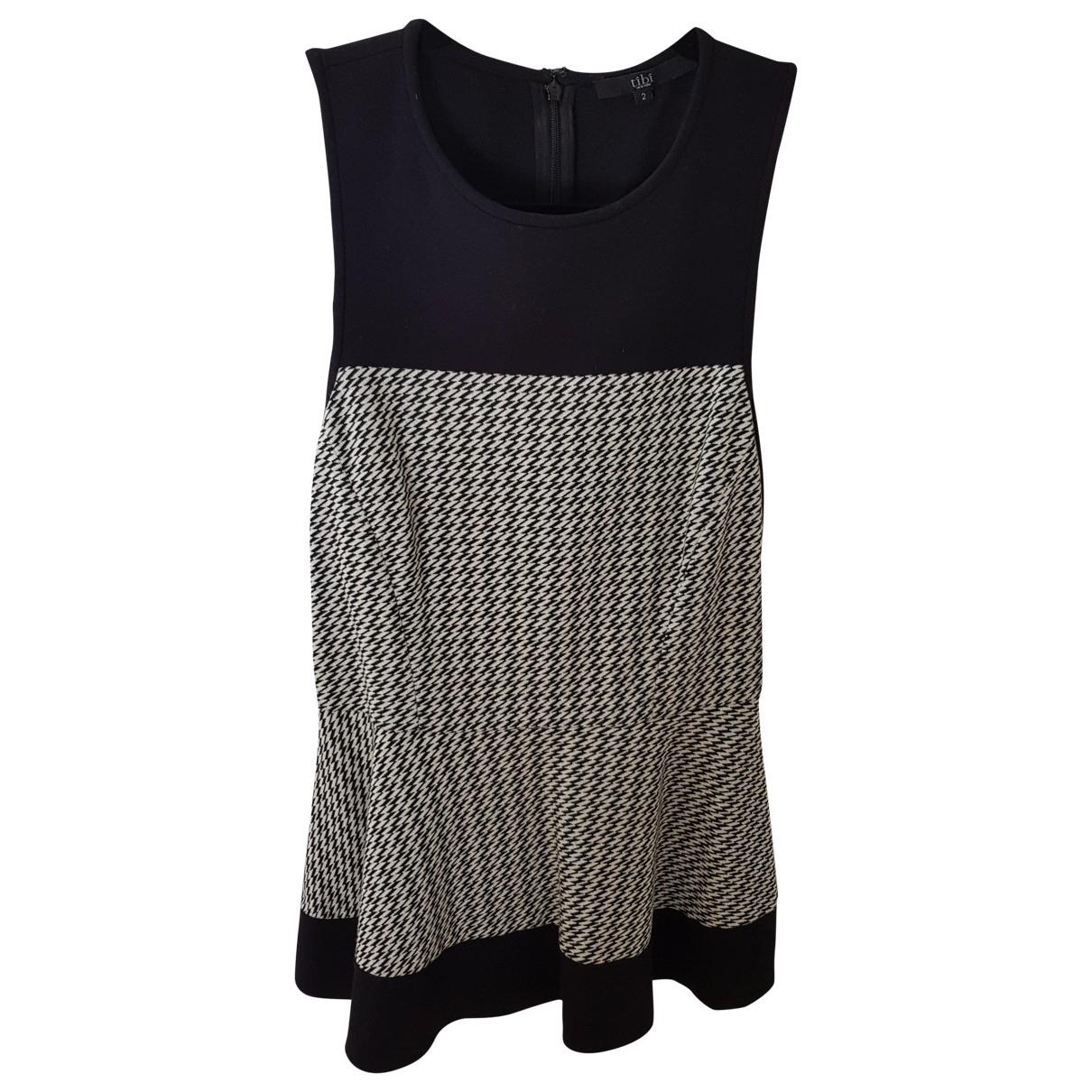 Tibi - Top   pour femme en coton - noir