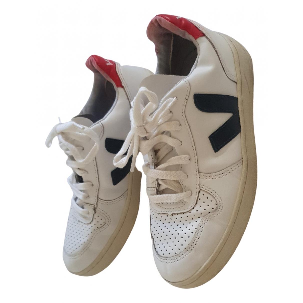 Veja - Baskets   pour femme en cuir - blanc