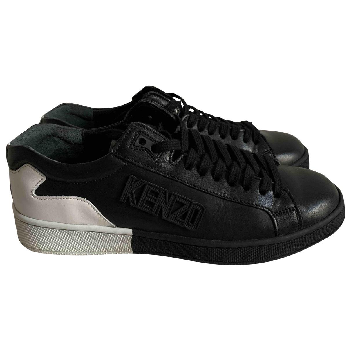 Kenzo \N Black Leather Trainers for Women 36 EU