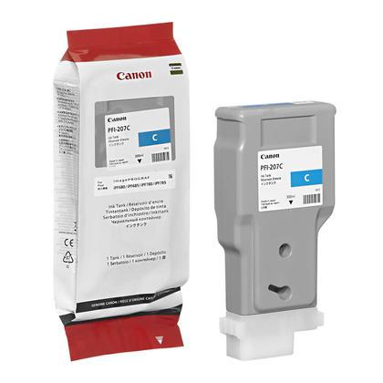 Canon PFI-207C 8790B001AA Original Cyan Ink Cartridge