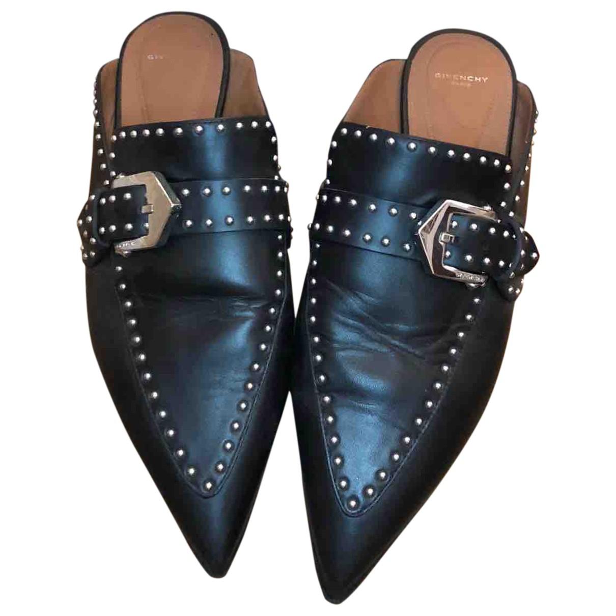 Givenchy \N Clogs in  Schwarz Leder