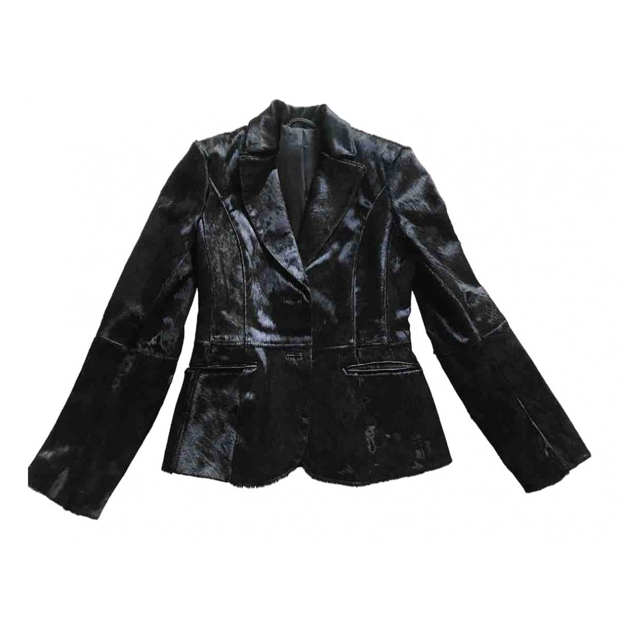 - Veste   pour femme en fourrure - noir
