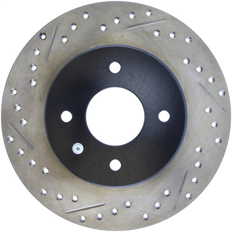 StopTech 127.42021R Sport Drilled/Slotted Brake Rotor; Rear Right Nissan 300ZX Rear Right 1984-1985 3.0L V6