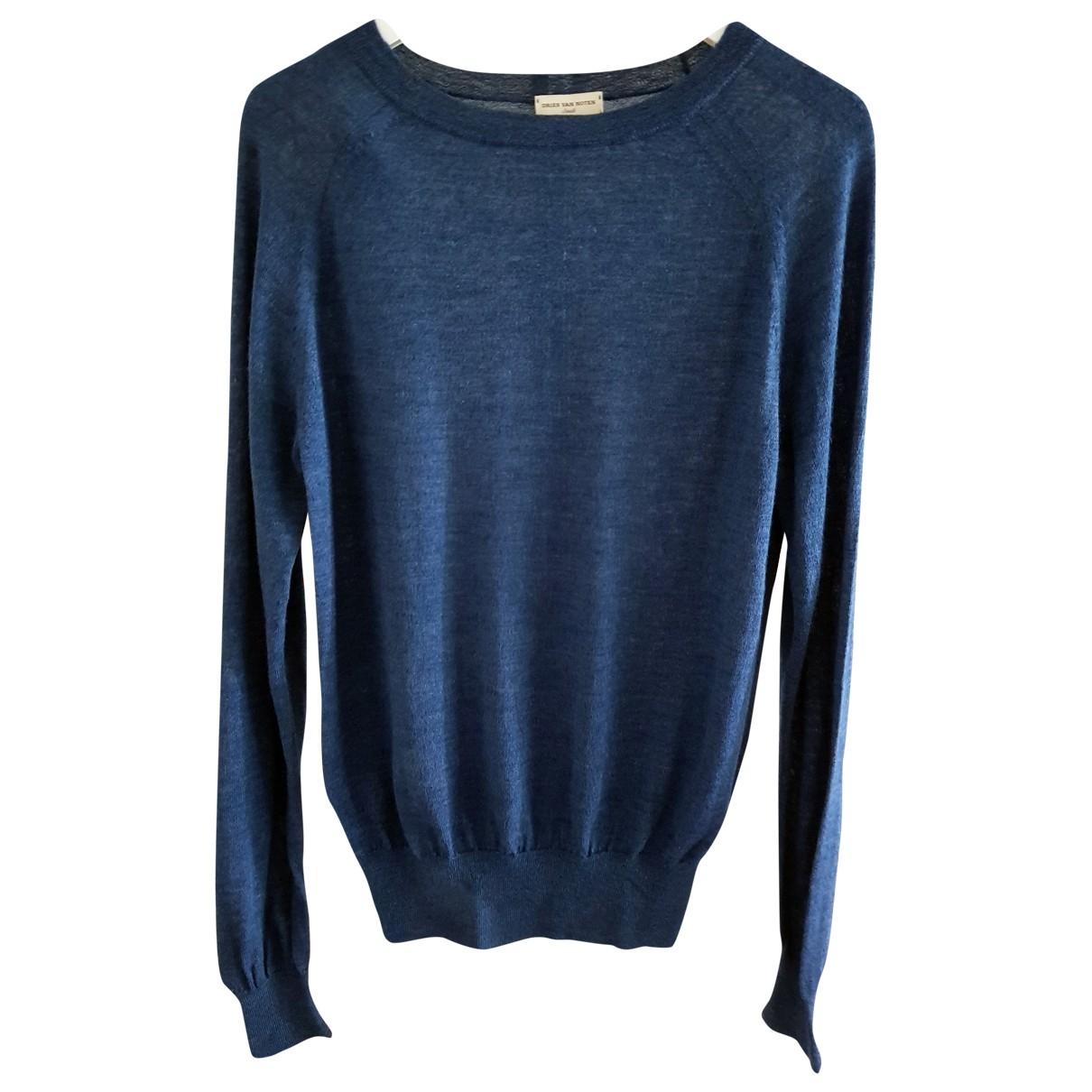 Dries Van Noten \N Blue Wool Knitwear & Sweatshirts for Men S International