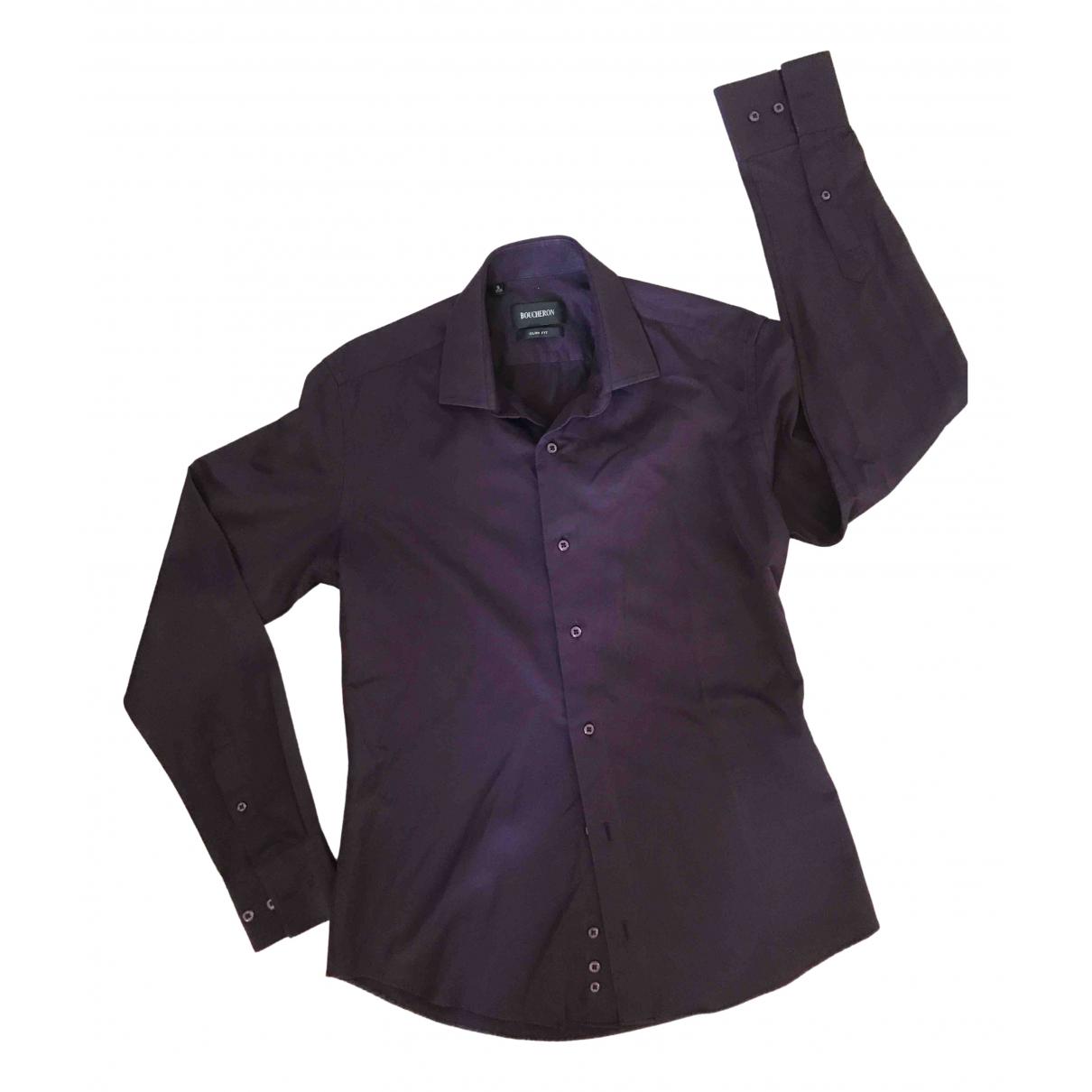 Boucheron \N Purple Cotton Shirts for Men S International