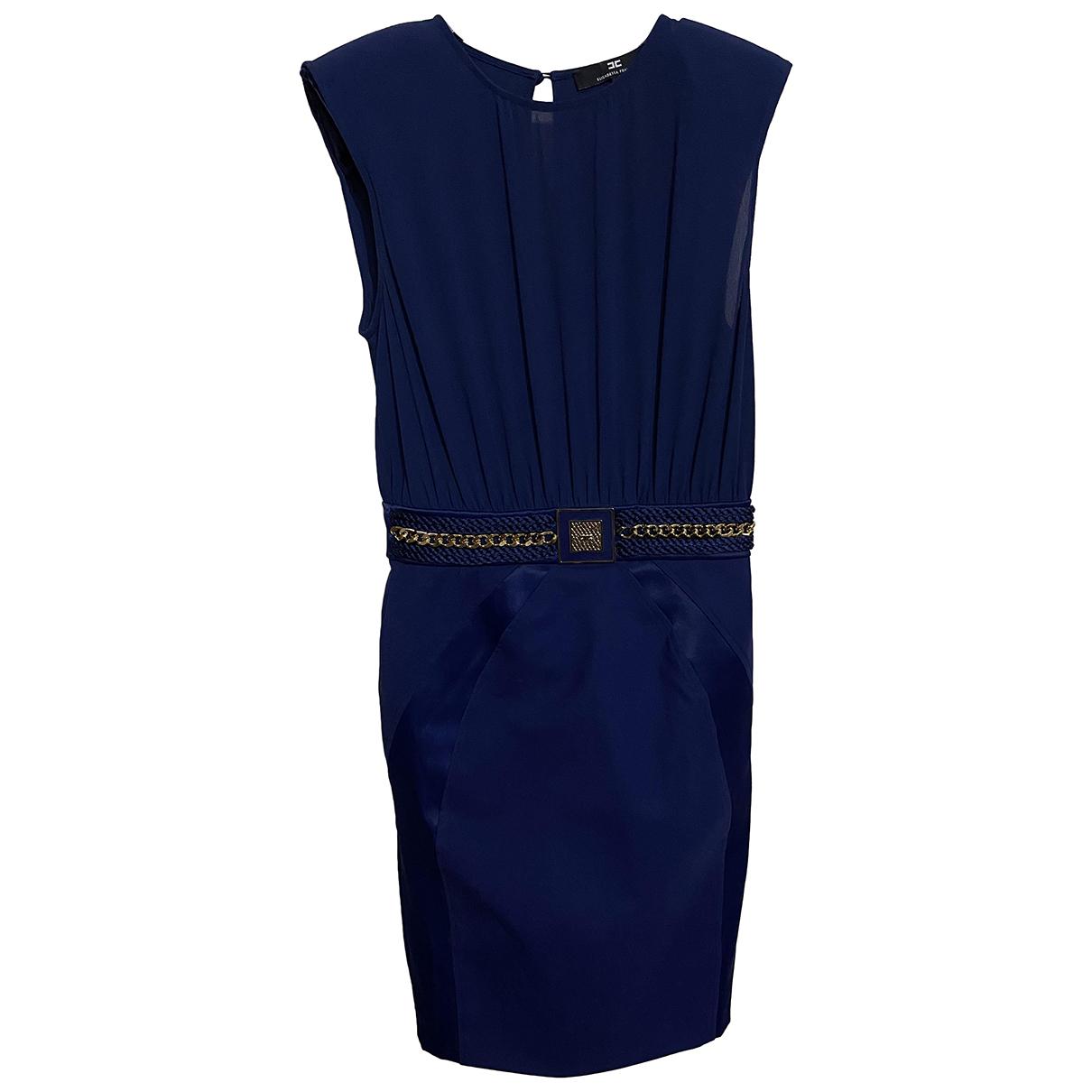 Elisabetta Franchi \N Kleid in  Blau Polyester