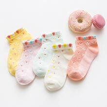 5 Paare Kleinkind Maedchen Socken mit Punkten Muster