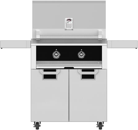 30 Natural Gas Grill with ECD30BK Tower Grill Cart with Two Doors  in Stealth