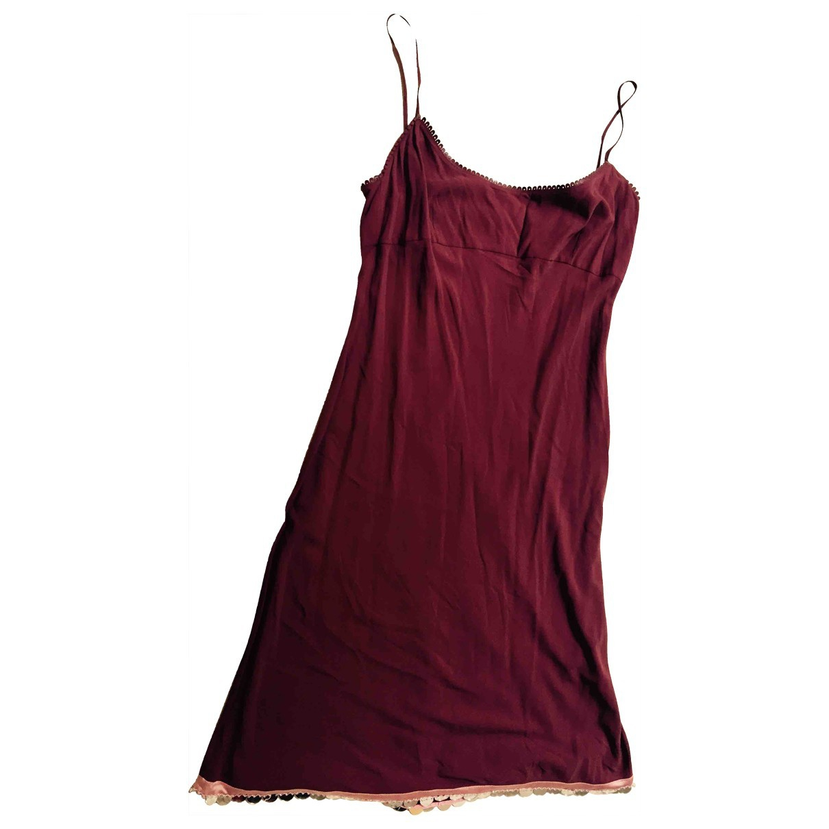 Prada \N Burgundy Silk dress for Women 46