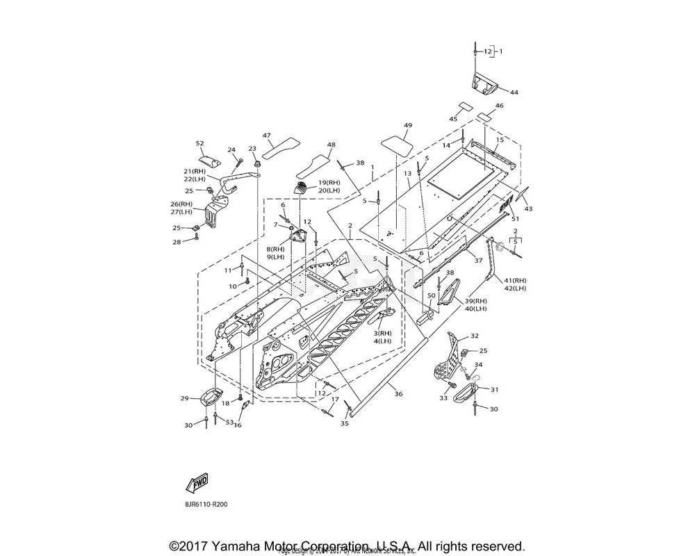 Yamaha OEM 8JR-RAP0J-00-00 DECAL, FRAME 17
