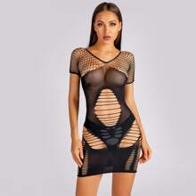 Fishnet Cut-out Bodycon Dress
