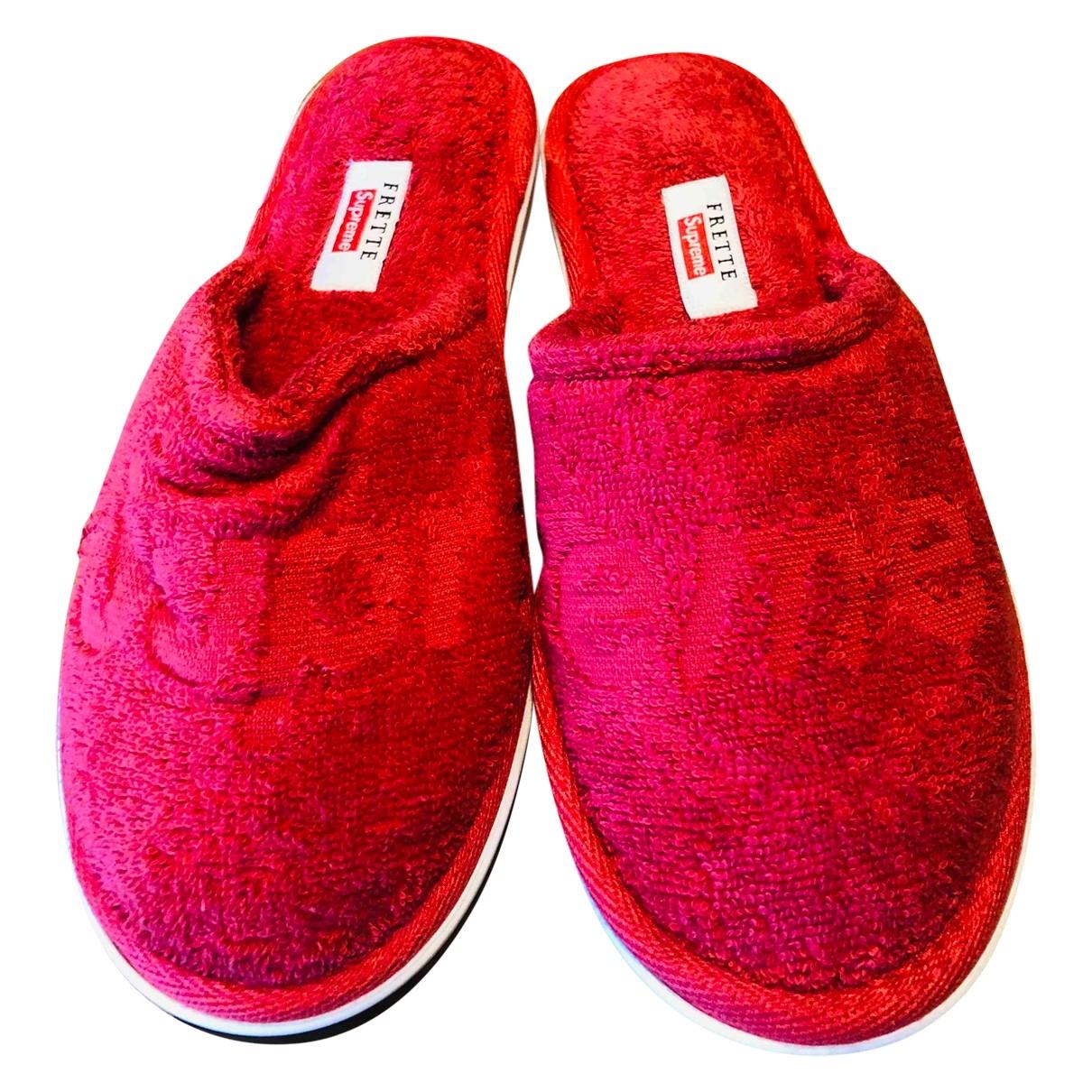 Supreme - Espadrilles   pour femme en toile - rouge