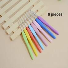 8 piezas aguja de sueter de color al azar