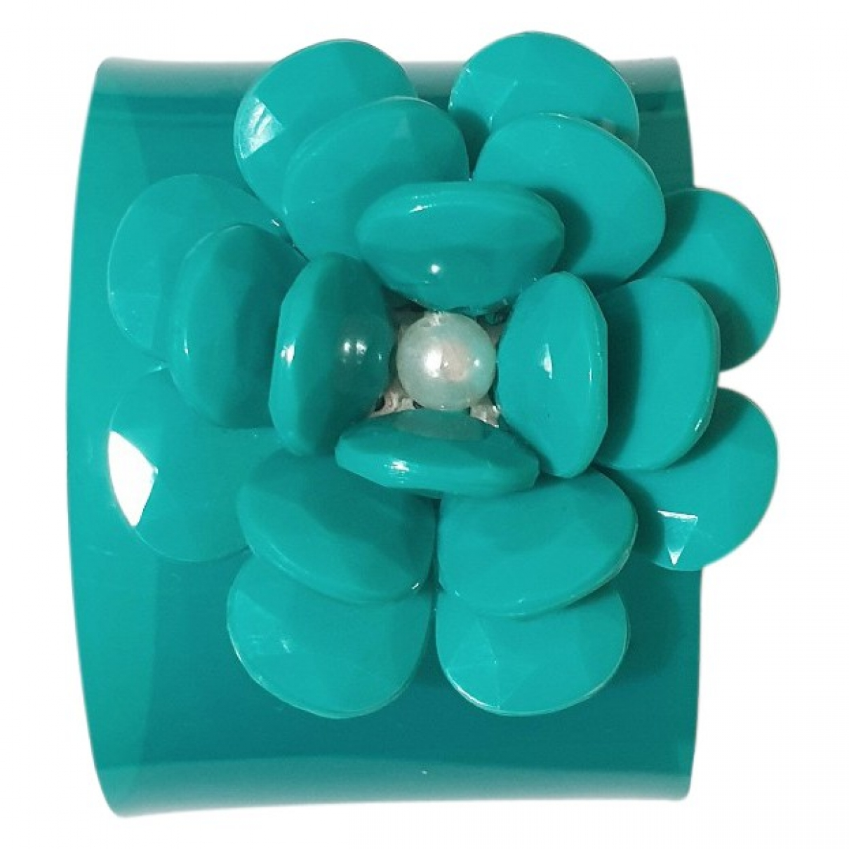 Non Signé / Unsigned Manchette Turquoise bracelet for Women \N