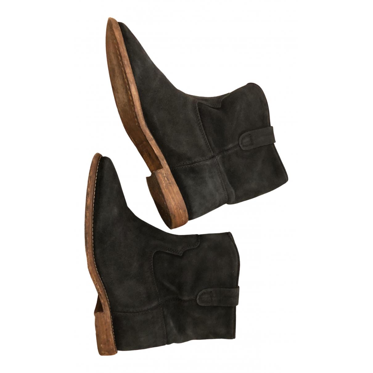 Isabel Marant - Boots Cluster pour femme en cuir - bleu