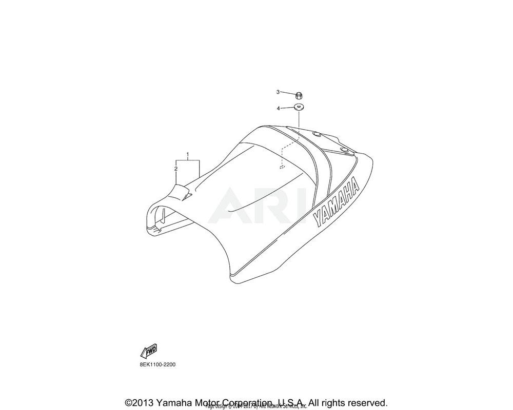 Yamaha OEM 8EK-24710-30-00 SINGLE SEAT ASSY | Use for Color HEAT RED ( HTR / 00EY )
