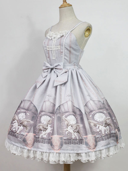 Milanoo Classic Lolita Jsk Jumper Skirt Time Guardian Jsk Original Design