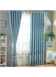 Concise and Modern 2 Panels Breathable Custom Grommet Top Sheer Curtain