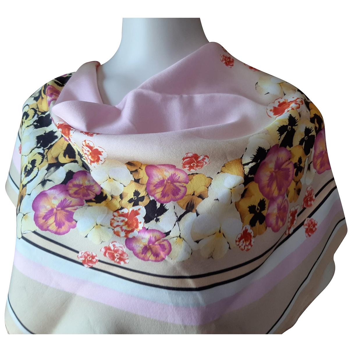 Roberto Cavalli \N Pink Silk scarf for Women \N
