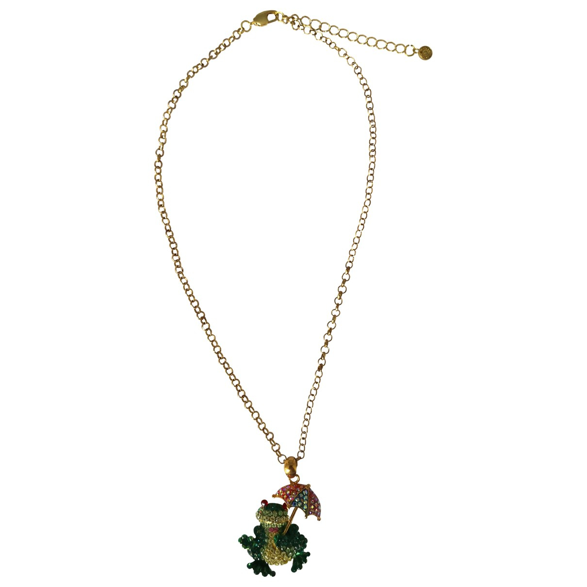 Non Signe / Unsigned Motifs Animaliers Kette in  Bunt Kristall