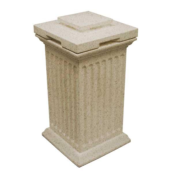 Good Ideas Savannah Column Storage and Waste Bin, 30 Gallon, Sandstone