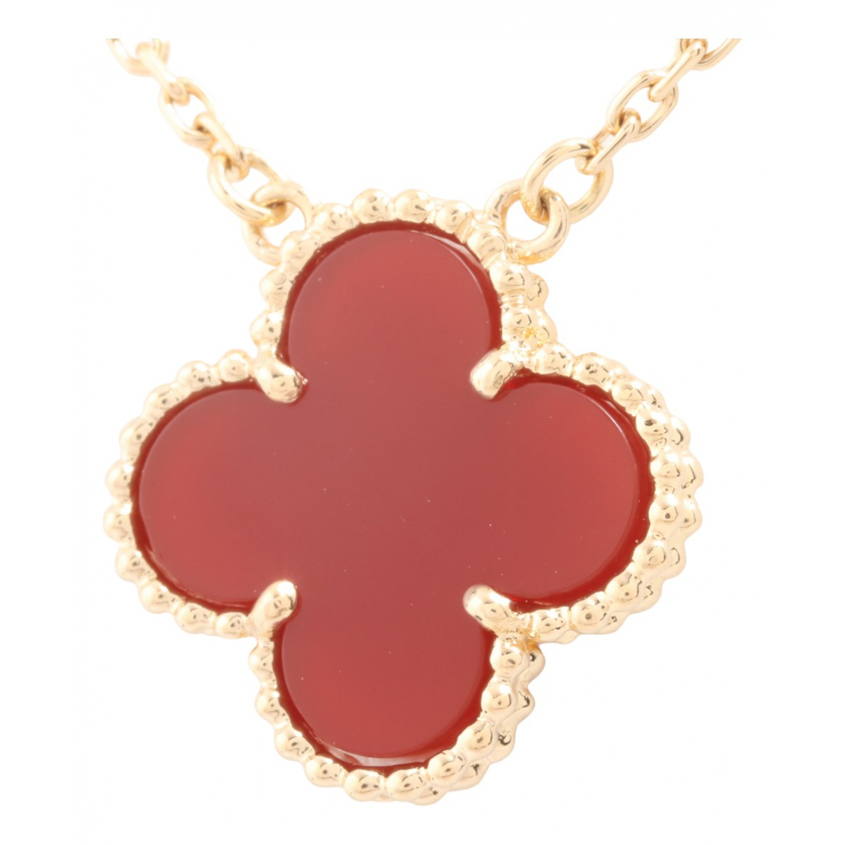 Van Cleef & Arpels Vintage Alhambra Red Yellow gold necklace for Women N
