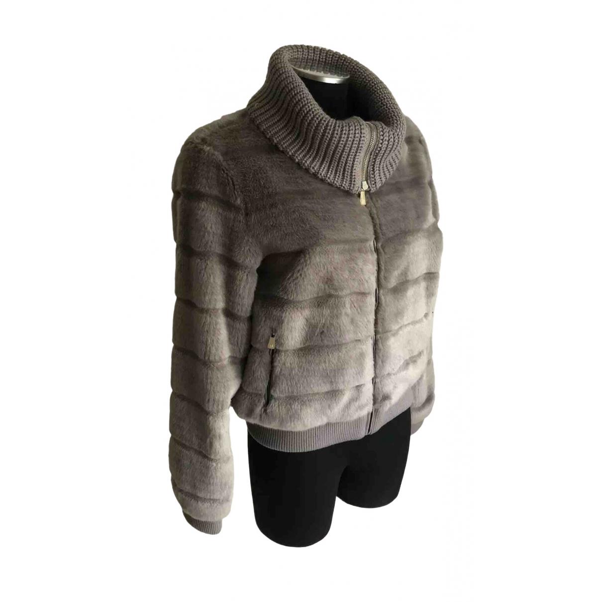 Trussardi \N Grey Faux fur jacket for Women 44 IT