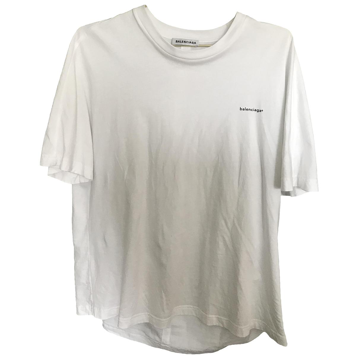 Balenciaga - Top   pour femme en coton - blanc