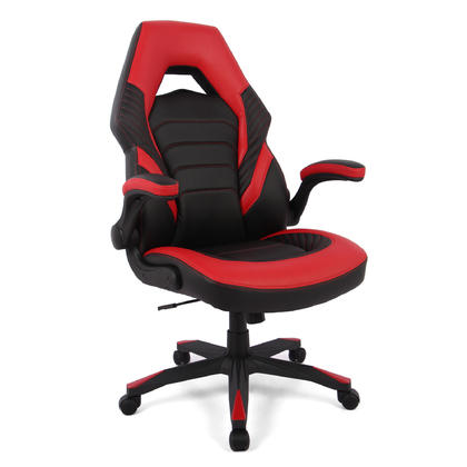 High-Back Racing Gaming Chair, Computer Chair with Flip Up Arms - Moustache®