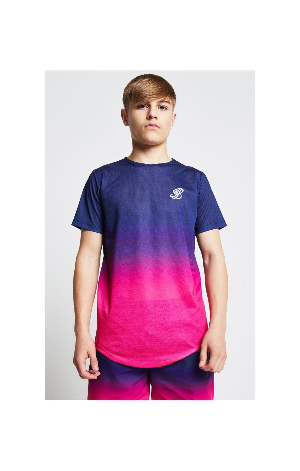 Illusive London Fade Tee - Navy & Pink  Kids Top Sizes: 15 YRS