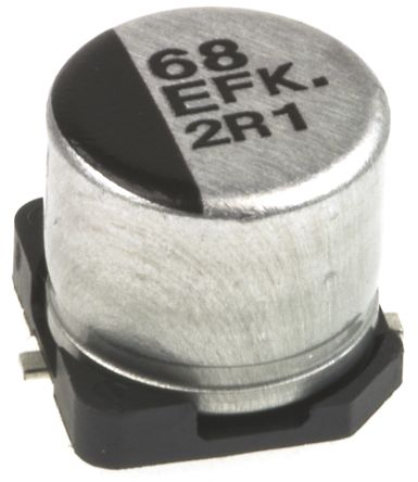 Panasonic 68μF Electrolytic Capacitor 25V dc, Surface Mount - EEEFK1E680P (25)