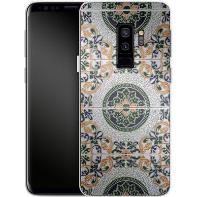 Samsung Galaxy S9 Plus Silikon Handyhuelle - Yellow and Green Tiles von Omid Scheybani