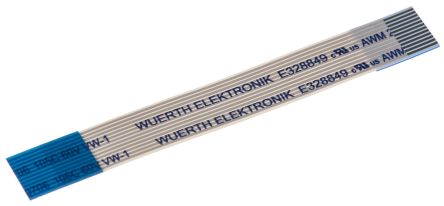 Wurth Elektronik 6877 FFC Jumper Cable, 0.5mm Pitch, 12 Way, 50mm Cable Length, 500 mA, 60 V ac (5)