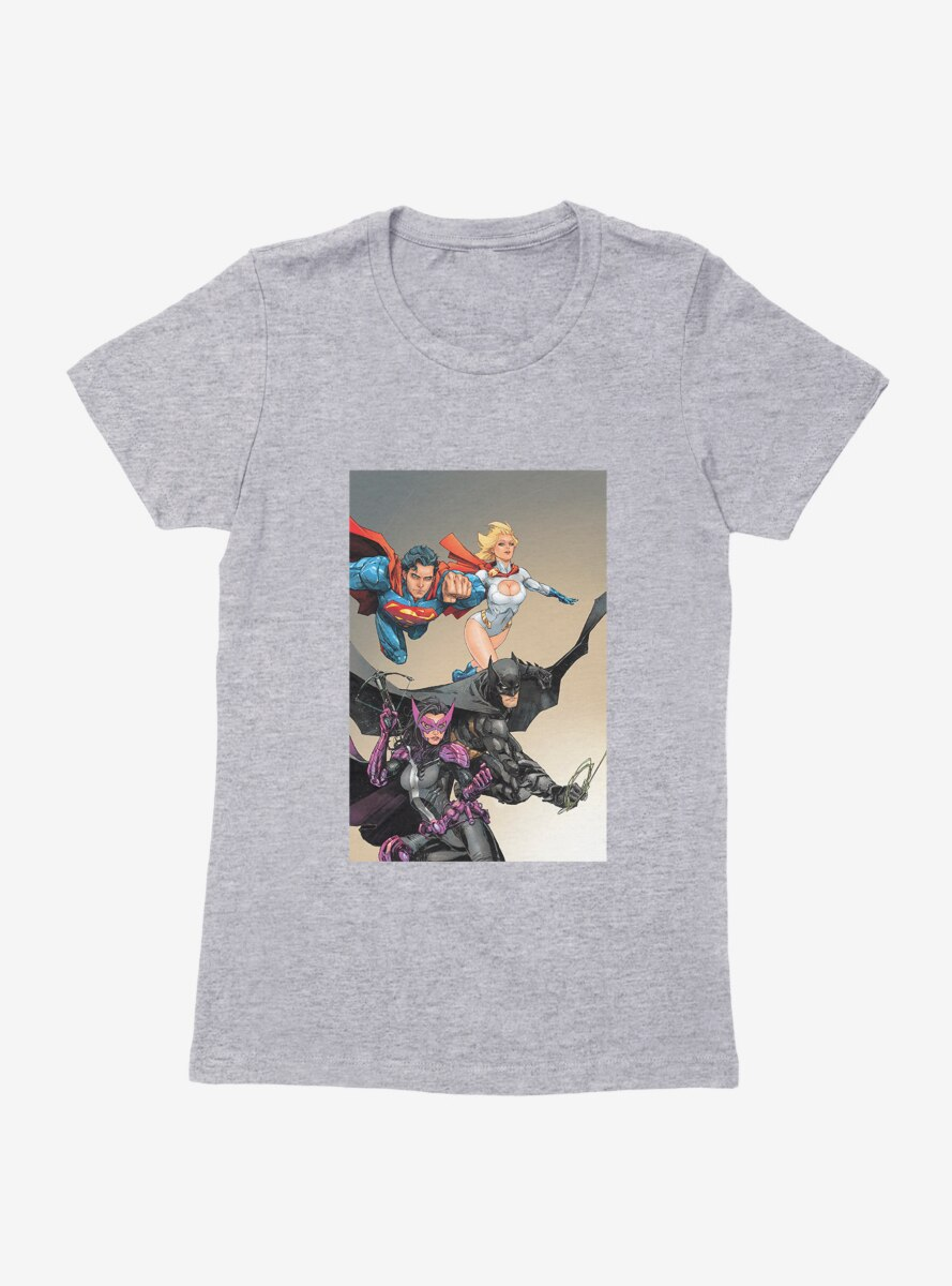 DC Comics Birds Of Prey Huntress And Justice League Womens T-Shirt